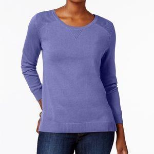 NWT (XL) Karen Scott Side Slit Sweater